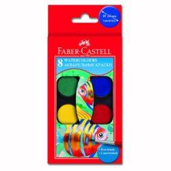 Acuarele 8 culori Pensula Faber-Castell