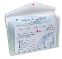 Mapa Plastic Cu Buton A4 3 Compartimente Transparenta 400 Microni Polyfile Snopake
