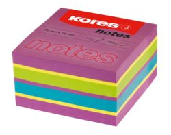 Notes Adeziv 75 x 75 mm Neon Mixt 450 File Kores