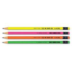 Creion Grafit HB cu Guma Fluorescent Adel