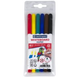 Marker Whiteboard 6/Set Varf Subtire 2mm 2507 Centropen
