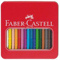 Creioane Colorate 16 Culori Jumbo Grip Cut Metal Faber-Castell