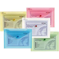 Mapa Plastic Cu Buton A5 Culori Asortate Clasice Snopake
