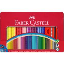 Creioane Colorate 48 Culori Cutie Metal Grip 2001 Faber-Castell