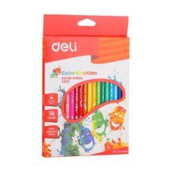 Creioane Colorate 18 Culori Color Emotion Deli