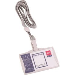 Ecuson Orizontal Rigid 85x53mm Cu Clips Si Snur Textil Deli