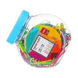Agrafe Metal 29mm Color 200 Buc Borcan Plastic Deli
