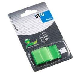 Index Adeziv Plastic 25x43mm 50 File Verde Info Notes