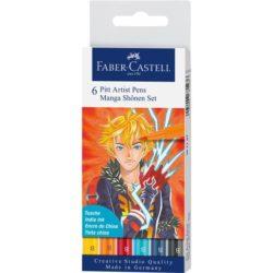 Pitt Artist Pen Manga Set 6 Shonen 2019Faber-Castell