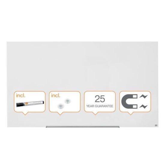 Whiteboard Magnetic Sticla Widescreen Diamond Nobo