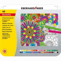Creioane Colorate 48 Culori Cutie Metal Eberhard Faber