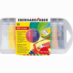 Tempera 10 Culori 12 ml Cutie Plastic Eberhard Faber