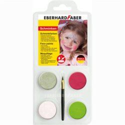 Set Pictura Pentru Fata 4 Culori cu Pensula Printesa Eberhard Faber