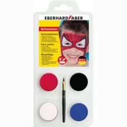 Set Pictura Pentru Fata 4 Culori cu Pensula Spiderman Eberhard Faber