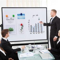 Whiteboard Magnetic Mobil Deli