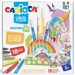 Set articole creative CARIOCA Create & Color - UNICORN 3D