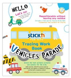 "Carte educativa Stick""n Tracing Work Book - Vehicles Parade"