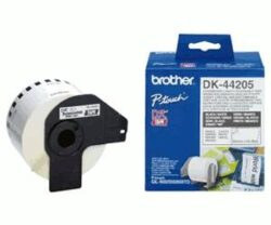 BANDA CONTINUA HARTIE 62MM BLACK ON WHITE DK44205 ORIGINAL BROTHER P-TOUCH QL-560