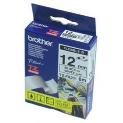 BANDA FLEXIBILA BLACK ON WHITE TZEFX231 ORIGINAL BROTHER P-TOUCH E300VP