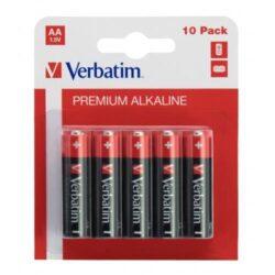 BATERIE VERBATIM AA R6 ALCALINE SET 10 BUC 49875