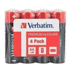BATERIE VERBATIM AA R6 ALCALINE SET 4BUC 49501
