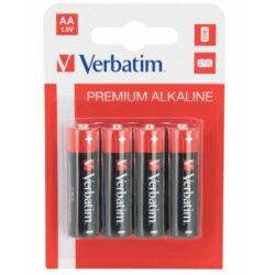 BATERIE VERBATIM AA R6 ALCALINE SET 4BUC 49921