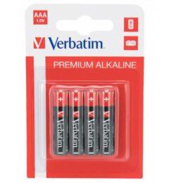 BATERIE VERBATIM AAA R3 ALCALINE SET 4BUC 49920