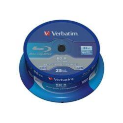 BD-R VERBATIM 25GB 6X SINGLE LAYER PRINTABLE NO ID SPINDLE 25 43811