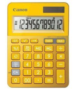 CALCULATOR BIROU CANON LS123KMYL 12 DIGITI RIBBON DISPLAY LCD YELLOW