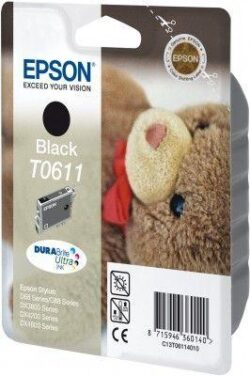 CARTUS BLACK C13T06114010 8ML ORIGINAL EPSON STYLUS D88