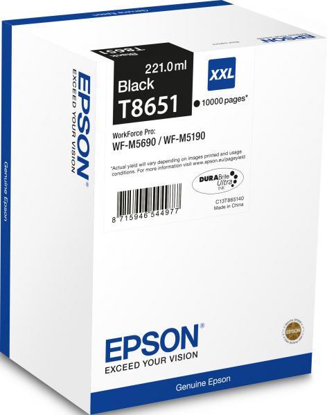 CARTUS BLACK C13T865140 10K ORIGINAL EPSON WORKFORCE PRO WF-M5690DWF