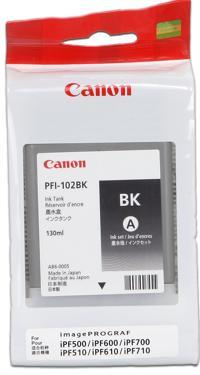 CARTUS BLACK PFI-102BK 130ML ORIGINAL CANON IPF 500