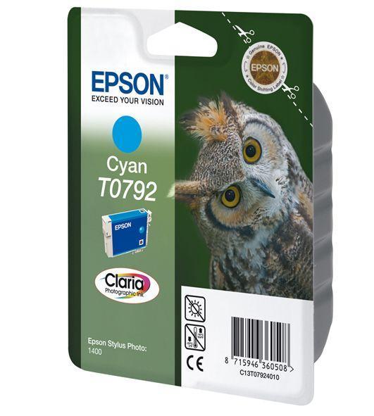 CARTUS CYAN C13T07924010 11ML ORIGINAL EPSON STYLUS PHOTO 1400