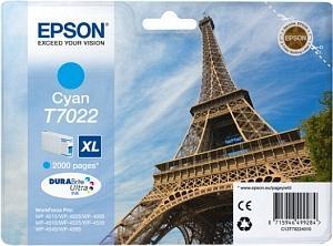 CARTUS CYAN C13T70224010 2K 21ML ORIGINAL EPSON WORKFORCE PRO 4000