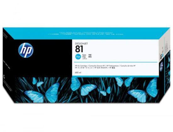 CARTUS CYAN NR.81 C4931A 680ML ORIGINAL HP DESIGNJET 5000