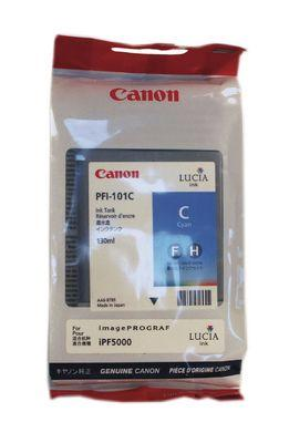 CARTUS CYAN PFI-101C 130ML ORIGINAL CANON IPF 5000
