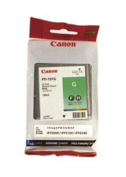 CARTUS GREEN PFI-101G 130ML ORIGINAL CANON IPF 5000