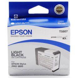 CARTUS LIGHT BLACK C13T580700 80ML ORIGINAL EPSON STYLUS PRO 3800