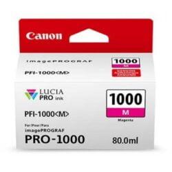 CARTUS MAGENTA PFI-1000M 80ML ORIGINAL CANON IMAGEPROGRAF PRO-1000