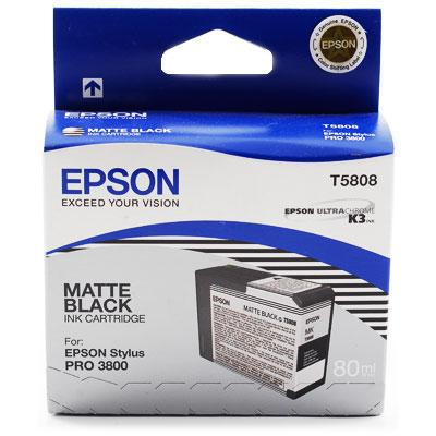 CARTUS MATTE BLACK C13T580800 80ML ORIGINAL EPSON STYLUS PRO 3800