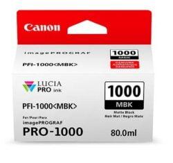 CARTUS MATTE BLACK PFI-1000MBK 80ML ORIGINAL CANON IMAGEPROGRAF PRO-1000