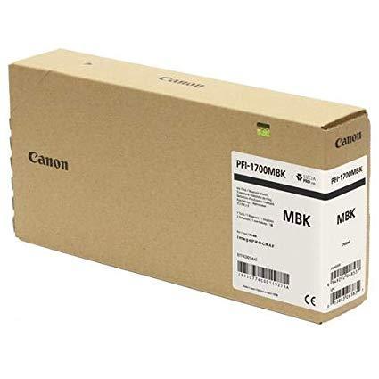 CARTUS MATTE BLACK PFI-1700MBK 700ML ORIGINAL CANON IPF PRO-2000