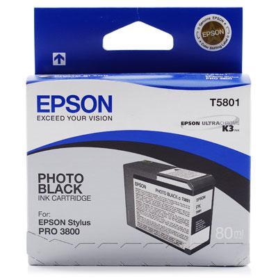 CARTUS PHOTO BLACK C13T580100 80ML ORIGINAL EPSON STYLUS PRO 3800