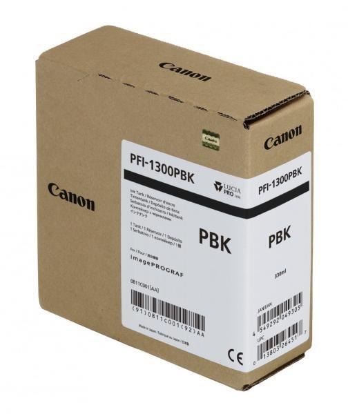 CARTUS PHOTO BLACK PFI-1300BK 330ML ORIGINAL CANON IPF PRO-2000