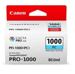 CARTUS PHOTO CYAN PFI-1000PC 80ML ORIGINAL CANON IMAGEPROGRAF PRO-1000