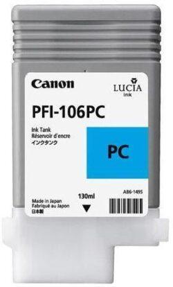 CARTUS PHOTO CYAN PFI-106PC 130ML ORIGINAL CANON IPF 6400