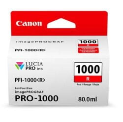 CARTUS RED PFI-1000R 80ML ORIGINAL CANON IMAGEPROGRAF PRO-1000
