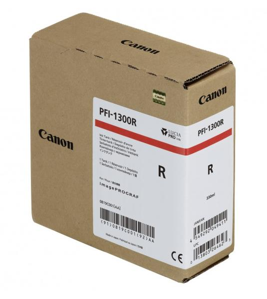 CARTUS RED PFI-1300R 330ML ORIGINAL CANON IPF PRO-2000