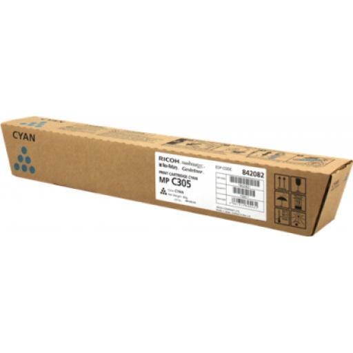 CARTUS TONER CYAN 841595/842082 4K ORIGINAL RICOH AFICIO MP C305SP