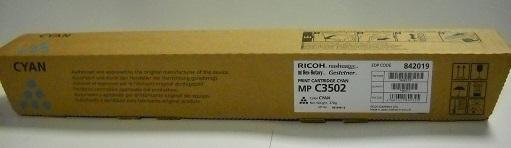 CARTUS TONER CYAN 841742/842019 18K ORIGINAL RICOH AFICIO MP C3502AD